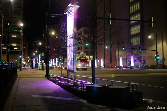 New lights on Congress Parkway