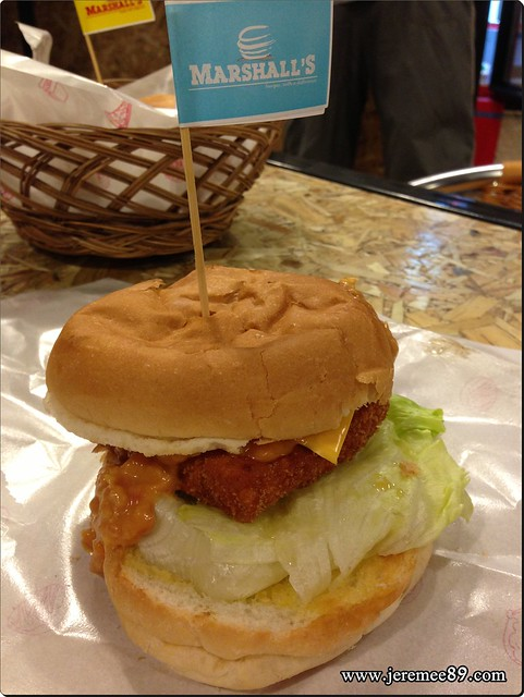 Marshalls Burger @ Burmah Road - Small Fry Fish Burger