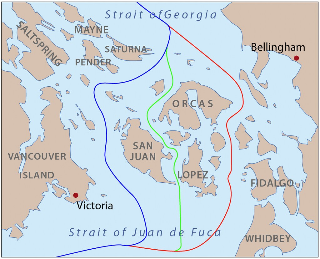 San Juan Islands Map and border dispute with England