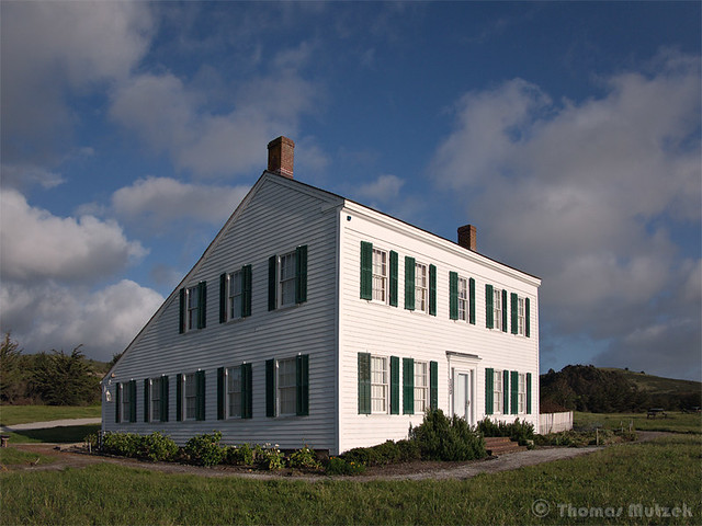 The James Johnston House in Half Moon Bay (Built 1853 - 1861)