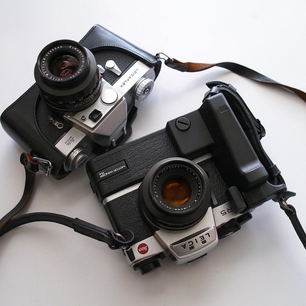 Leica R5 and Leicaflex