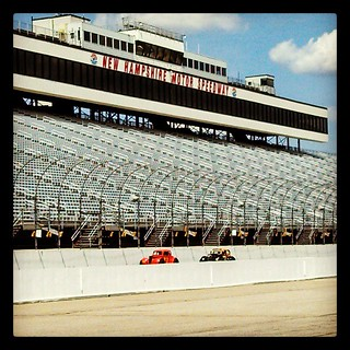 Coming down the front stretch at #nhms #uslegends #8 #racecar #racetrack