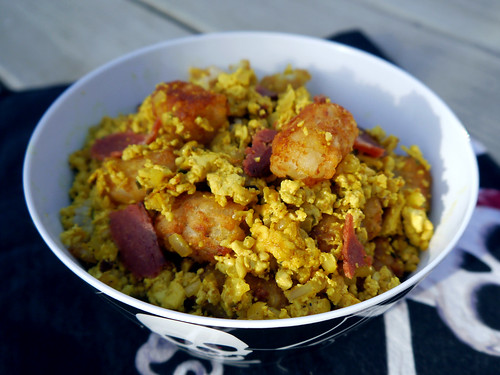 2013-04-28 - Bacon & Tot Tofu Scramble - 0001