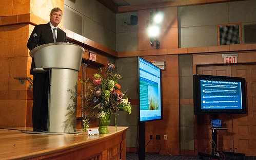 "Secretary Vilsack in Washington addressing the G-8 Open Data meeting.  Secretary Vilsack today kicked off a two-day international open data conference, saying that data ""is one of the most important commodities in agriculture"" and sharing it openly increases its value. USDA photo by Bob Nichols"