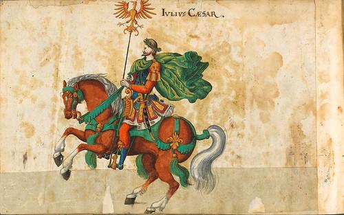 017- Cabalgata sobre los continentes-Europa-Descripción de las ocho festividades celebradas durante los juegos…1596-Biblioteca Estatal de Baviera