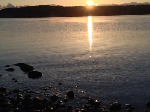 sunrise denmanisland straightofgeorgia baynessound iphone4s