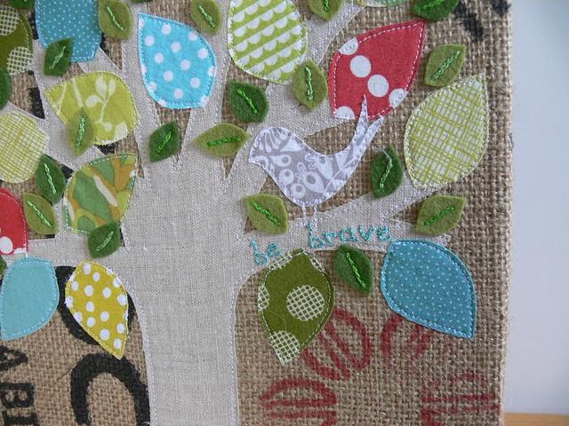 Jenny Bartoy: custom burlap art