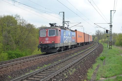 SBB Cargo 421 395 in Magdeburg Herrenkrug