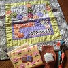 I LOVE IT!! Made by Cara! And awesome extras!! I accidentally got TWO mini quilts for DS Quilts!! There was a mistake:( I love them both though!