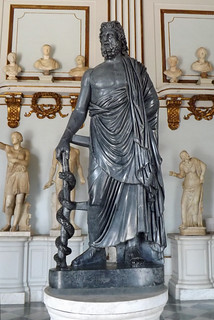 Statue of Asclepius in the Capitoline Museum, July 2012