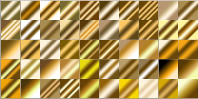 golden-gradients-list