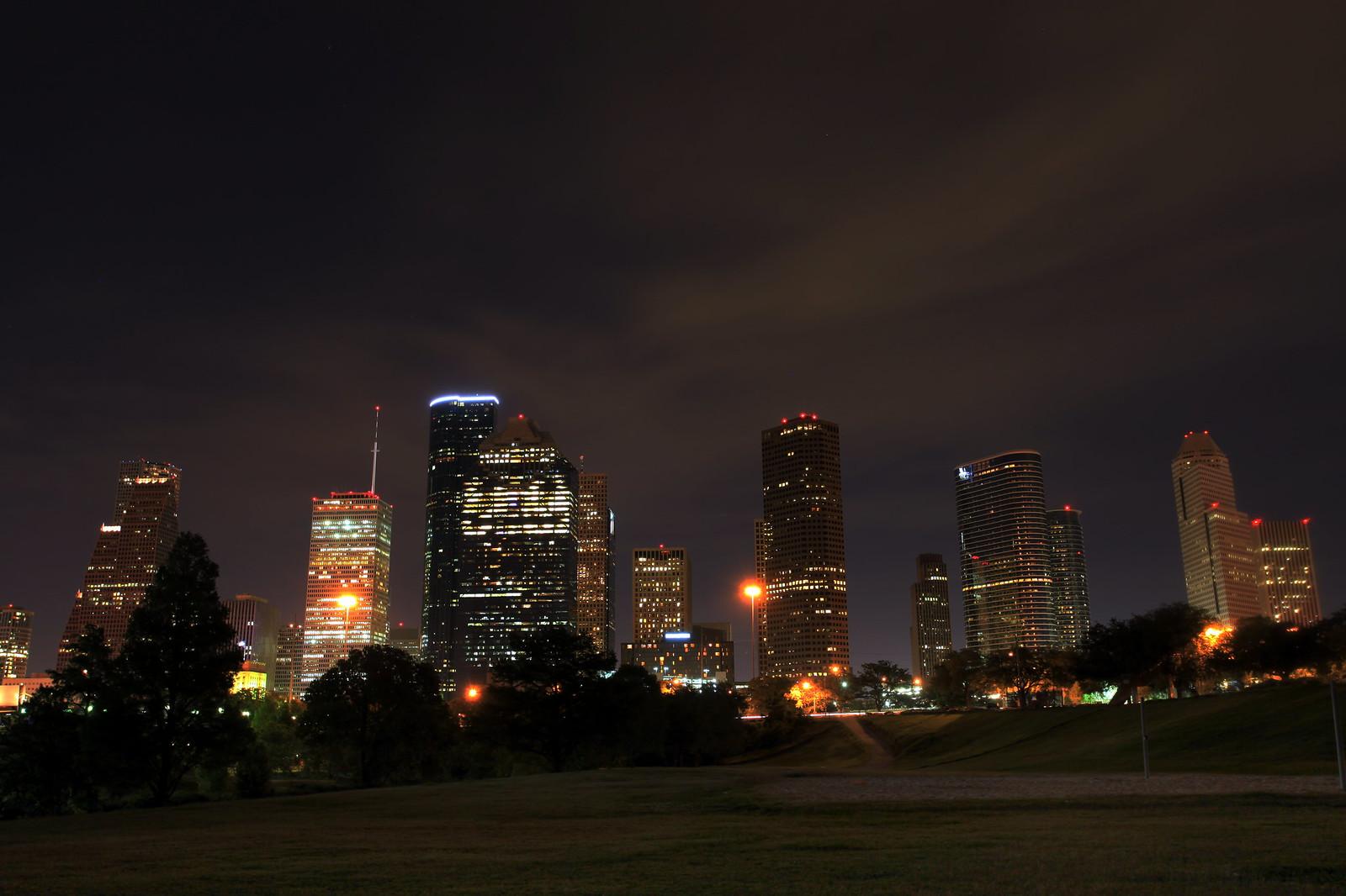 Houston Night Skyline