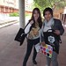Students carrying the durable bag in Tres Cantos, Spain