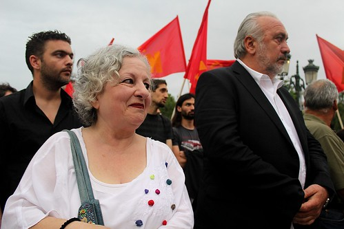 Greek communist party rally - Thessaloniki, Greece by Teacher Dude's BBQ