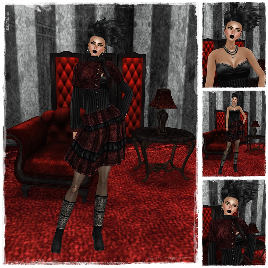 ".:SF:. ""Miette"" Lolita Dress - Crimson feat Evendim"