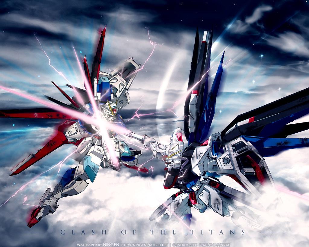 Gundam Seed Clash Of The Titans Wallpaper Shannon Castillo Flickr
