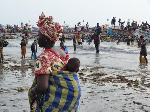 Foto de la playa de Tanji (Gambia)