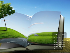 Calendar wallpaper June 2013
