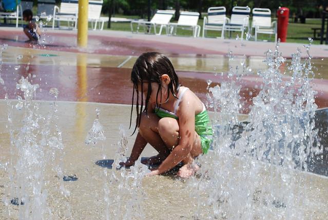 Savannah at the water park