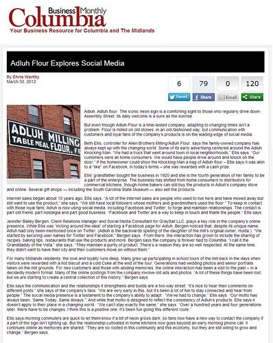 Adluh Flour Explores Social Media