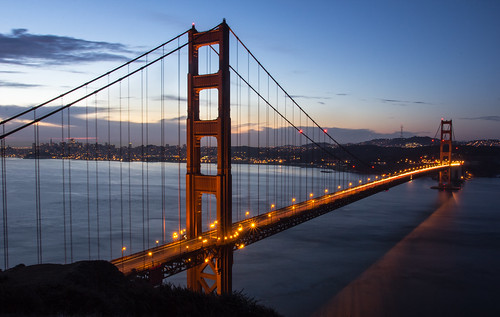 ocean sf city longexposure bridge usa water colors clouds america sunrise lights suspension bokeh cable hike goldengatebridge goldengate marinheadlands batteryspencer