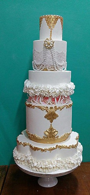 Opulent Wedding Cake by Divinealisious Cakez