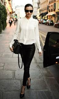 Miranda Kerr Monochrome Trend Celebrity Style Women's Fashion