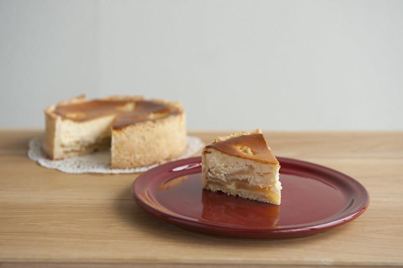 りんご入りチーズケーキ