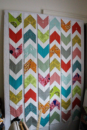 pow-wow quilt on the design wall