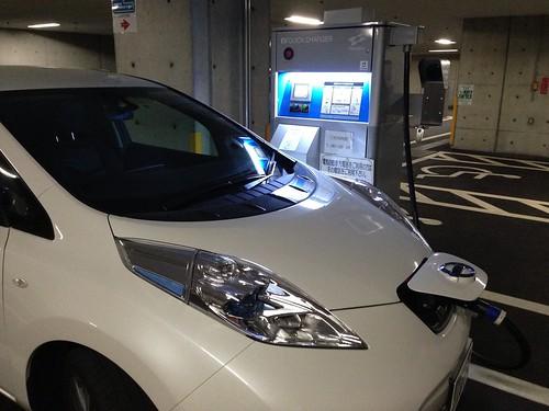 淡路夢舞台 電気自動車用急速充電器