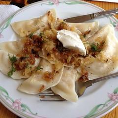 food, dish, dumpling, pierogi, cuisine,