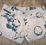 Tie Dye Bleach Shorts