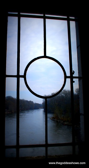 a view of the river from Diane De Poiter's study at Chateau de Chenonceau in the Loire Valley, France