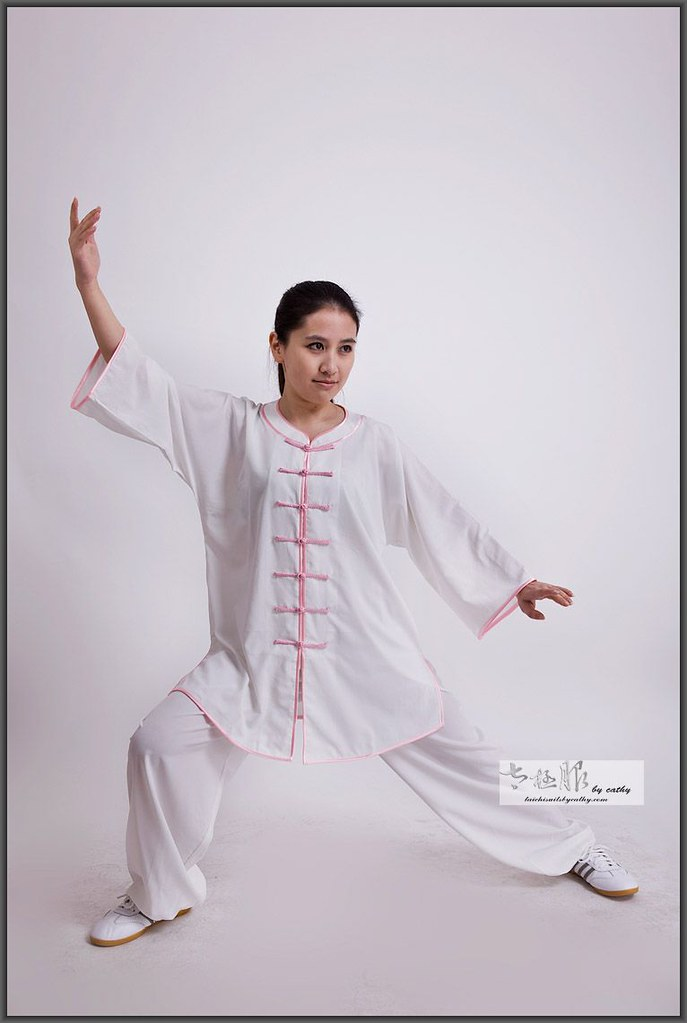 16013-1 low collar cotton spandex blend Tai Chi clothes for women