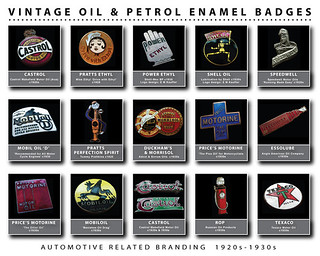 Vintage Oil & Petrol Enamel Badges