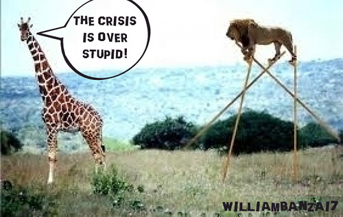 THE CRISIS IS OVER STUPID! by Colonel Flick/WilliamBanzai7