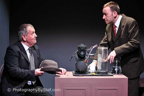 Colin McPherson (Dave Murray) and David McCallum) in ETA's spring 2013 production of The Water Engine