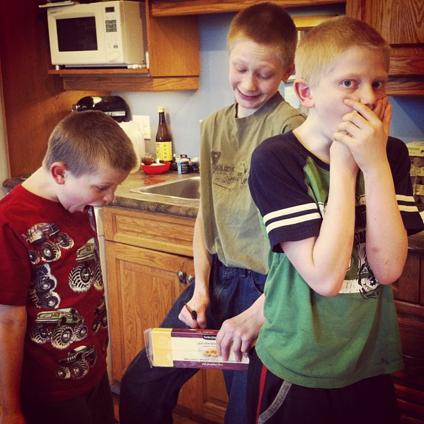 "My boys kill me.  He ""cut the cheese"". #dyingoflaughter #boys #cmig365apr"
