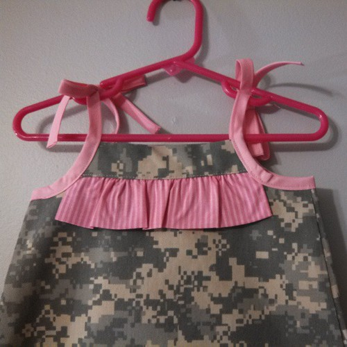 Top on custom ACU sundress