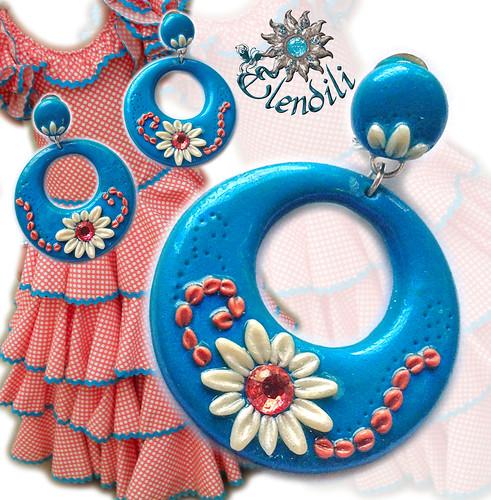 Pendientes fimo de flamenca by **Elendili**