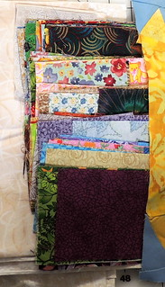 Stack of scrappy squares and rectangles