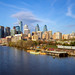 Philadelphia Skyline, Spring Afternoon by phillydesign