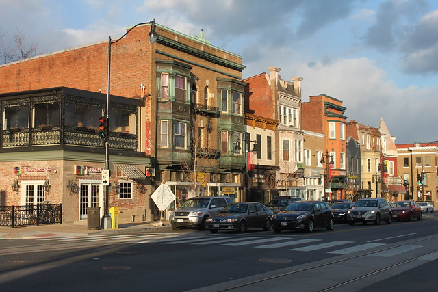 Historic buildings on H Street NE in the District of Columbia