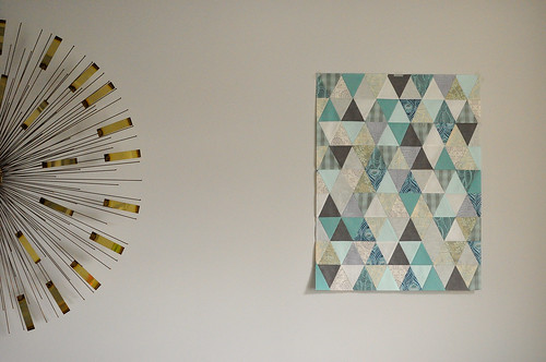 Triangle Squared Mini Quilt Top