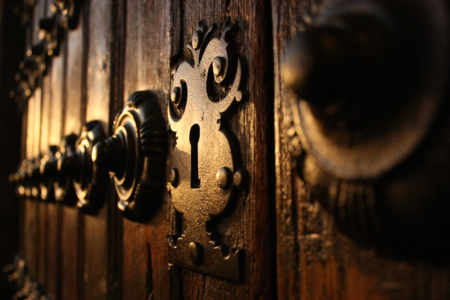 You lock the door and throw away the key