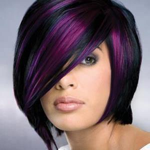 Black hair purple highlights | Flickr - Photo Sharing!