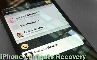 restore iPhone contacts