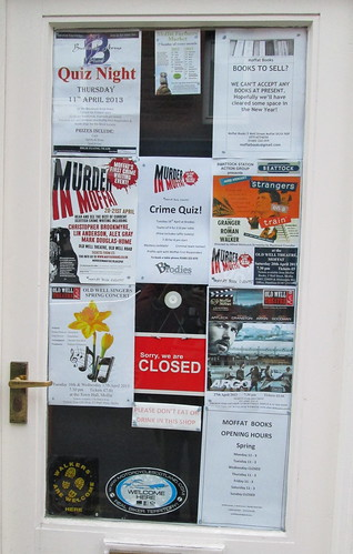 Moffat Book shop door