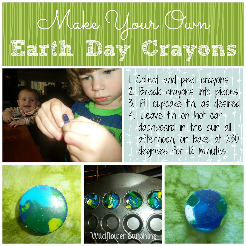 2013 Earth Day Crayon Craft Collage