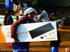 撣邦難民營的太陽能裝置,The Branch Foundation提供